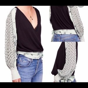Free People Auxton Thermal Wrap top size S